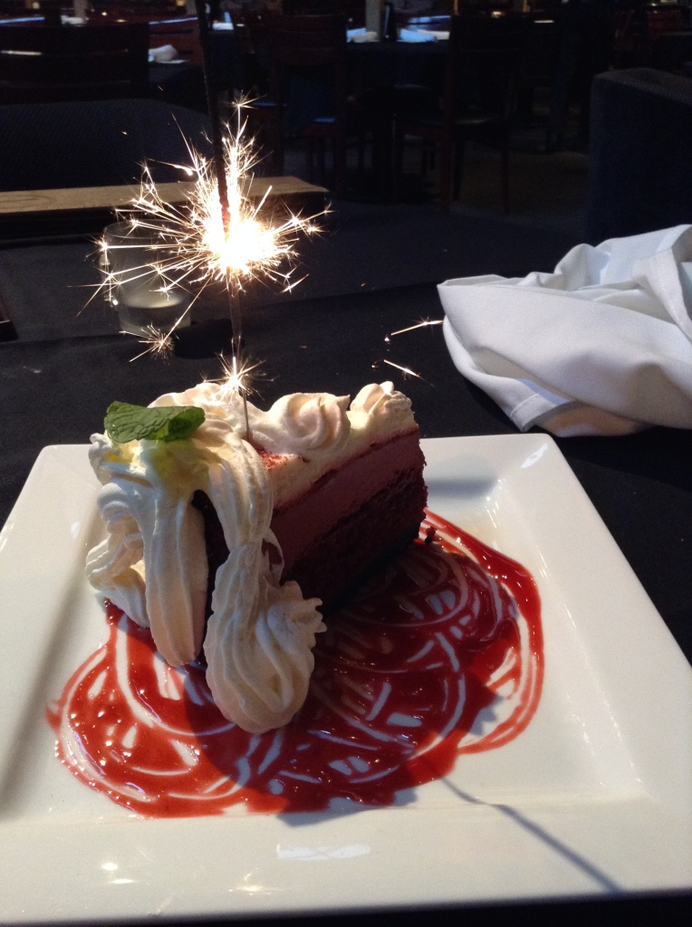 How about a little dessert with a sparkler on top