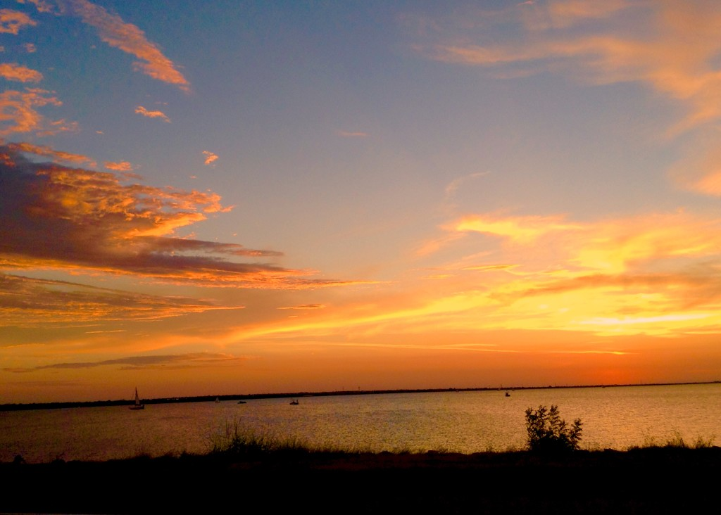 September sky at Lake Hefner